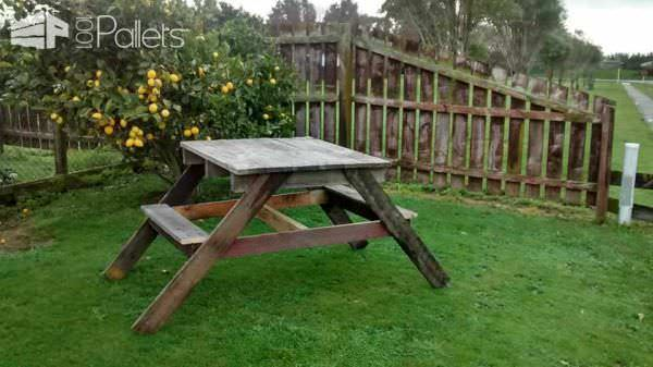 4 Person Pallet Picnic Table Pallet Desks & Pallet Tables