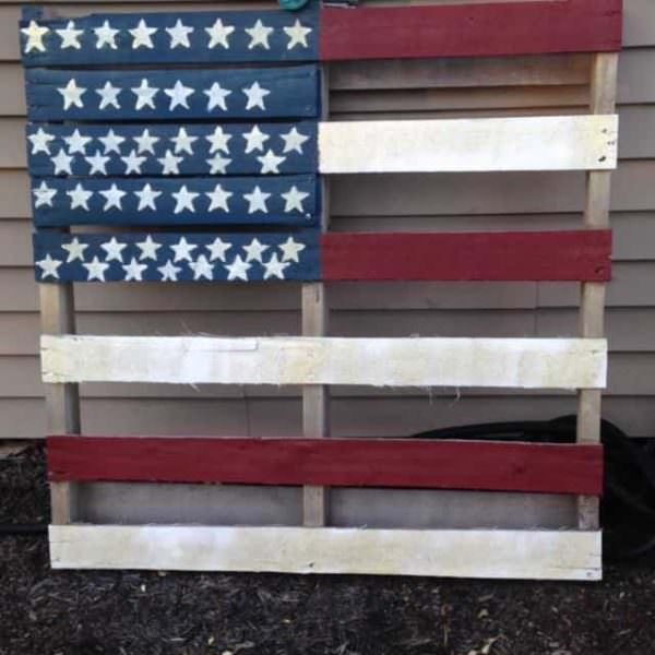 American Pallet Flag Pallet Home Accessories