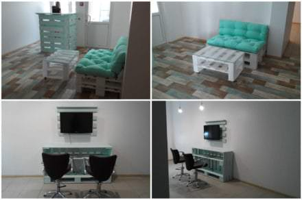 Beauty Shop Pallet Furniture