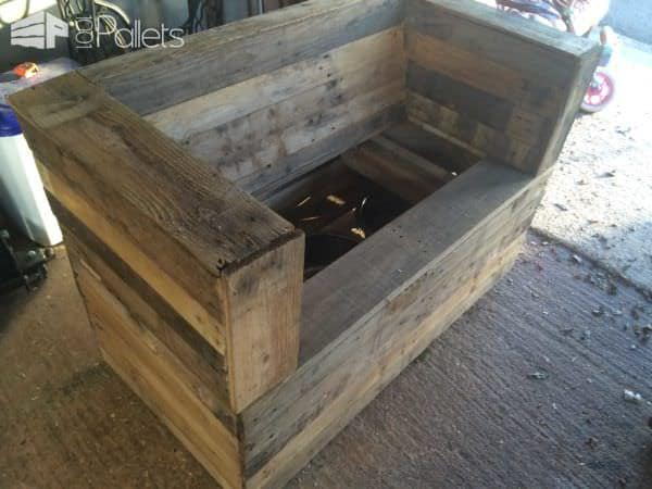 Bench & Beer Cooler From Pallets Pallet Benches, Pallet Chairs & Stools