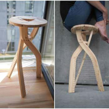 Design Stool From Shipping Pallet Wood