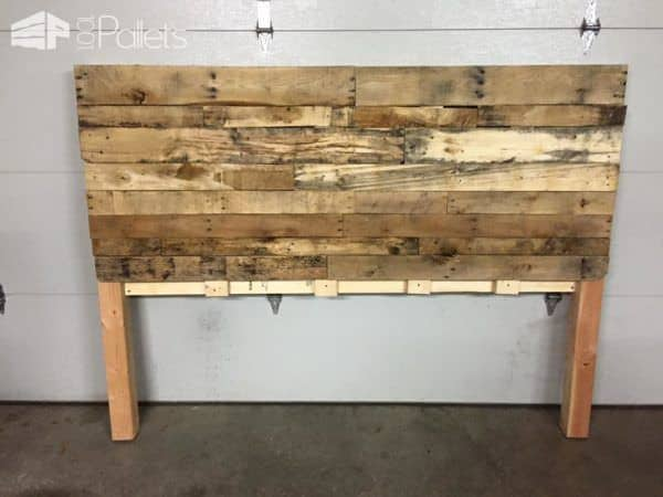 King Size Pallet Bed Headboard DIY Pallet Bedroom - Pallet Bed Frames & Pallet Headboards