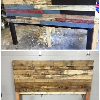King Size Pallet Bed Headboard
