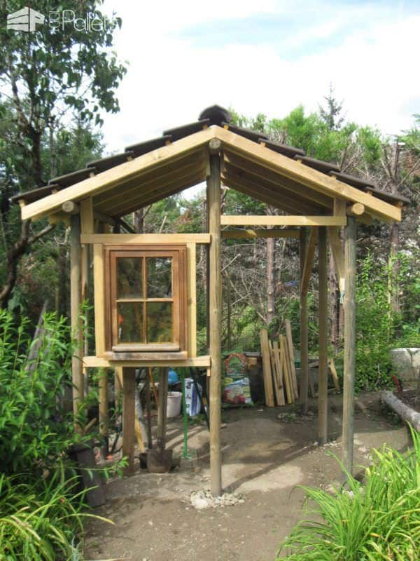 My Pallet Garden Hut Pallet Sheds, Cabins, Huts & Playhouses
