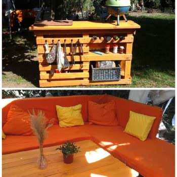 My Pallet Work: Lounge & BBQ Side Table