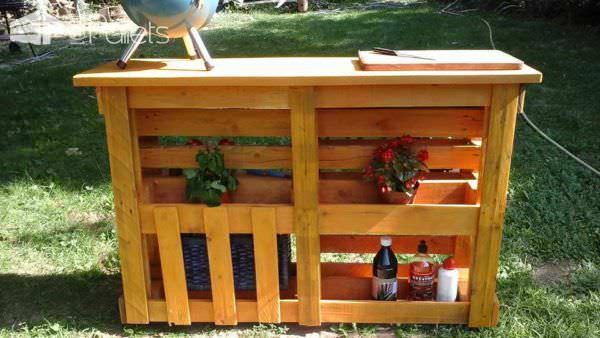 My Pallet Work: Lounge & BBQ Side Table Lounges & Garden Sets Pallet Desks & Pallet Tables
