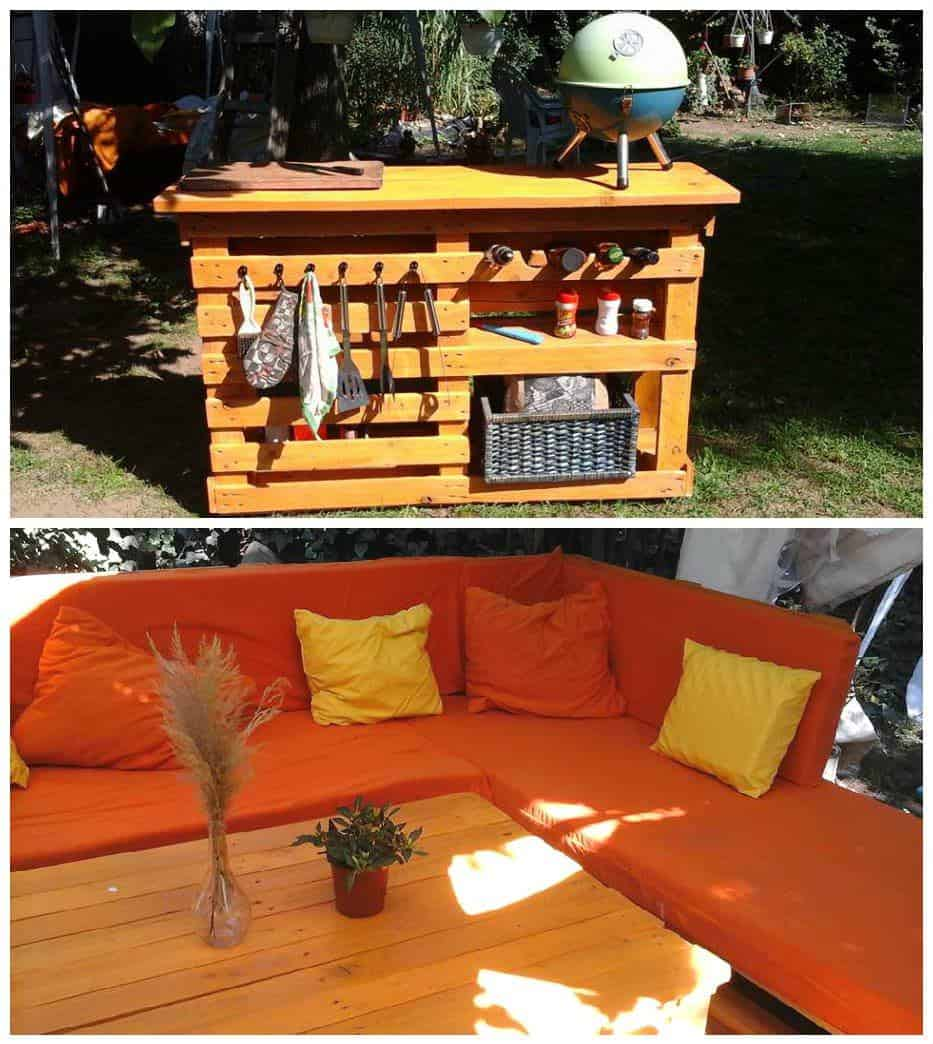 Diy bathroom wall decor - My Pallet Work Lounge Amp Bbq Side Table Pallet Ideas 1001