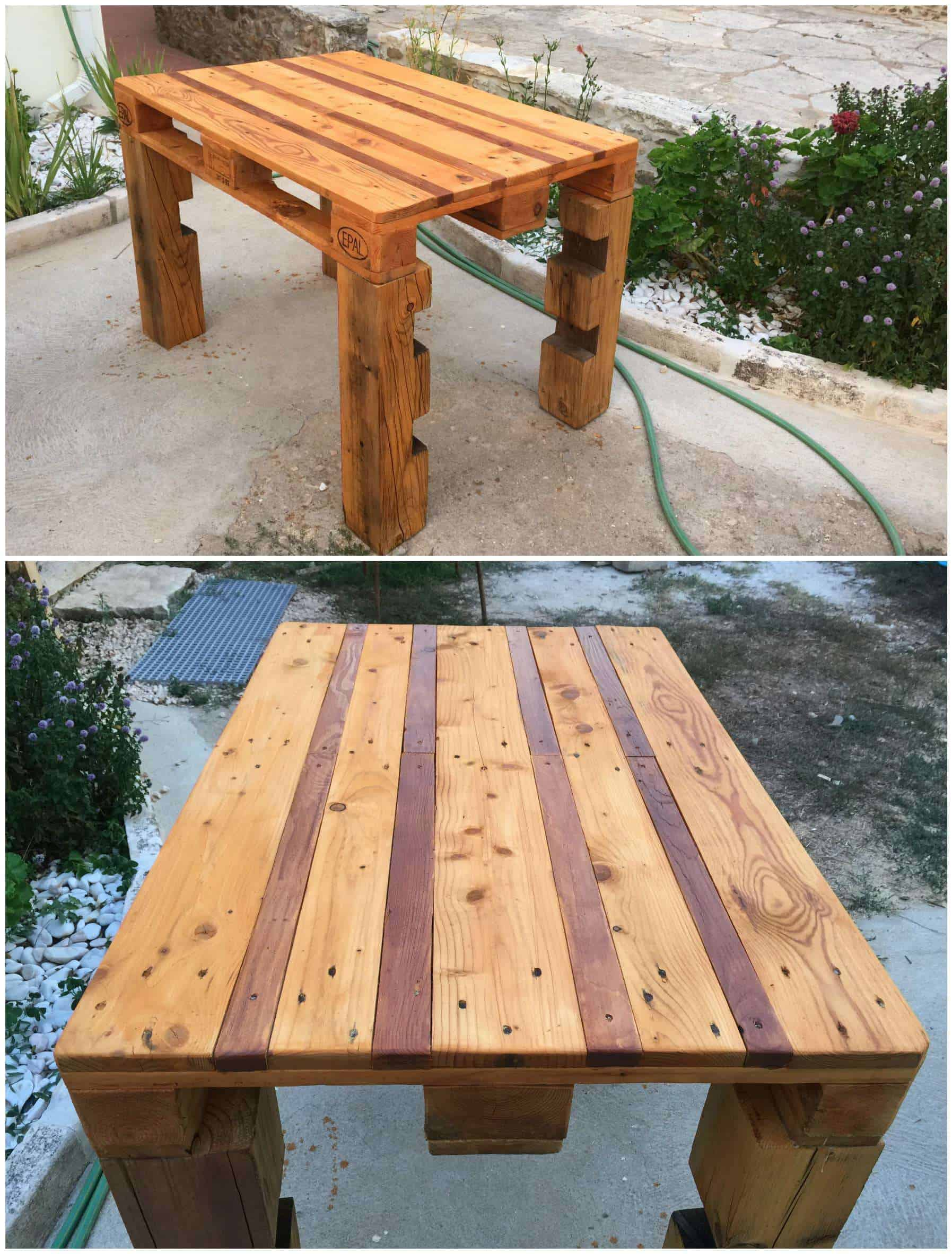 Outdoor Pallet Table 1001 Pallets