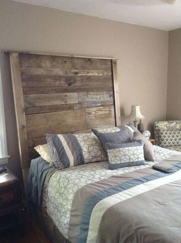 Pallet bed headboard 1001 pallets - Tete de lit metal 160 ...