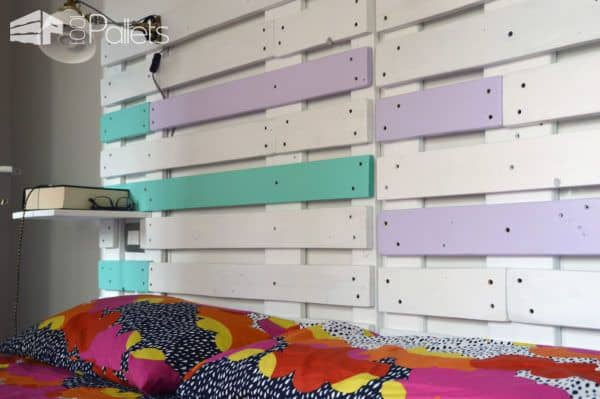 Pallet Bed & Headboard With Scaffold & Pallet Boards Pallet Beds, Pallet Headboards & Frames