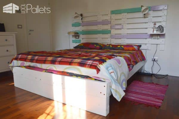 Pallet Bed & Headboard With Scaffold & Pallet Boards DIY Pallet Bed Headboard & Frame