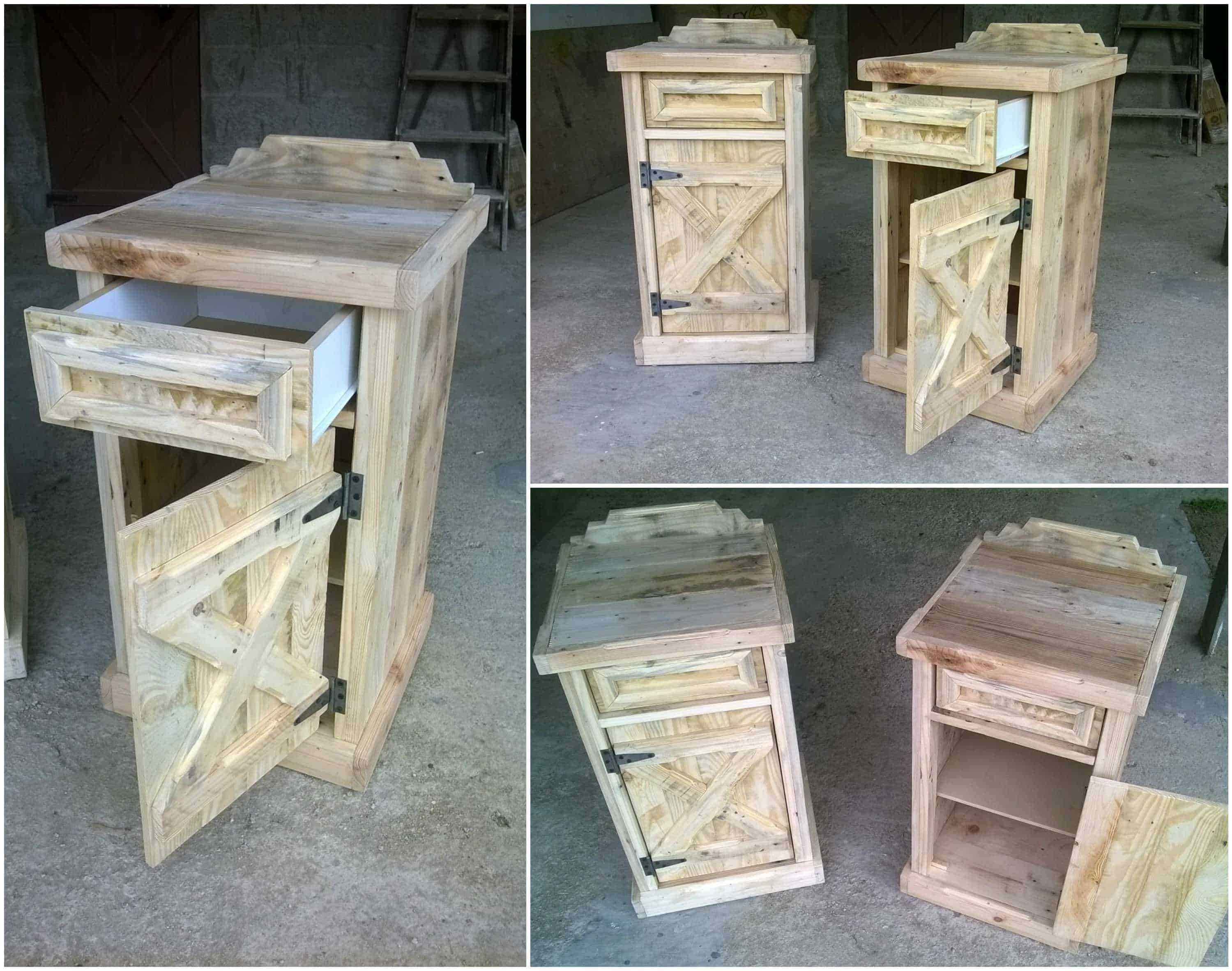 Pallet Bedside Tables 1001 Pallets