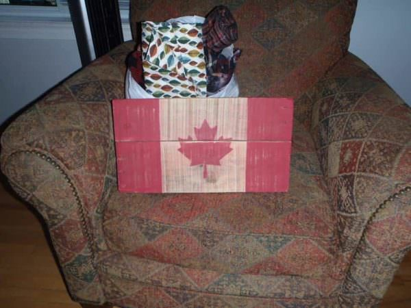 Pallet Canadian Flag Pallet Wall Decor & Pallet Painting