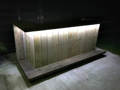 Pallet Outdoor Kitchen Bar 1001 Pallets