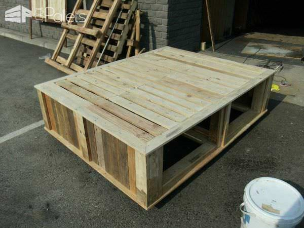Pallet Queen Size Bed DIY Pallet Bed Headboard & Frame