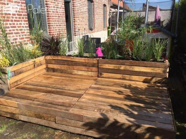 Pallet Terrace Deck • 1001 Pallets