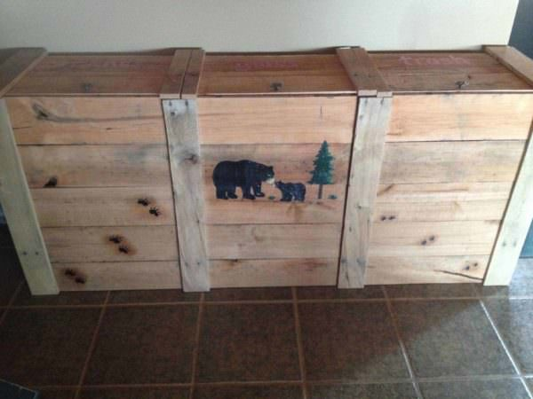 Pallet Trash Can Bin Pallet Boxes & Chests