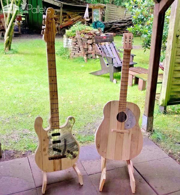 Pallet Wood Guitars Pallet Home Accessories