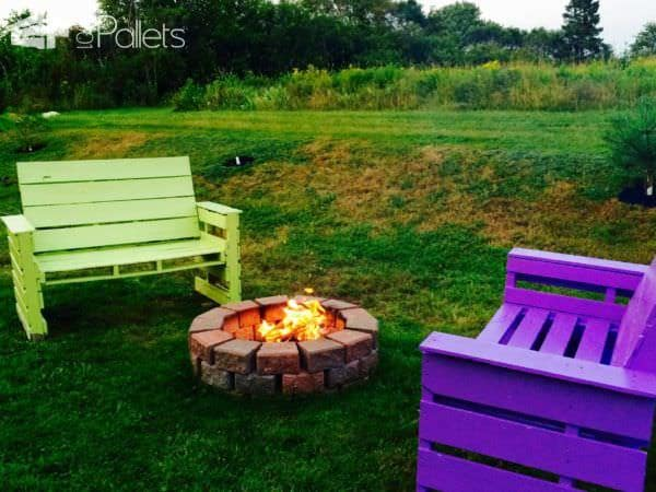 Patio & Fire Pit Furniture Lounges & Garden Sets Pallet Benches, Pallet Chairs & Pallet Stools