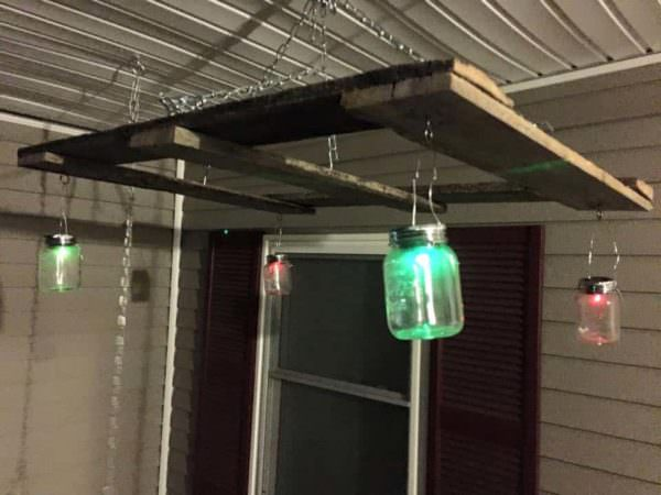 Porch Swing Hanger for Mason Jars and Pallets Pallet Lamps & Lights