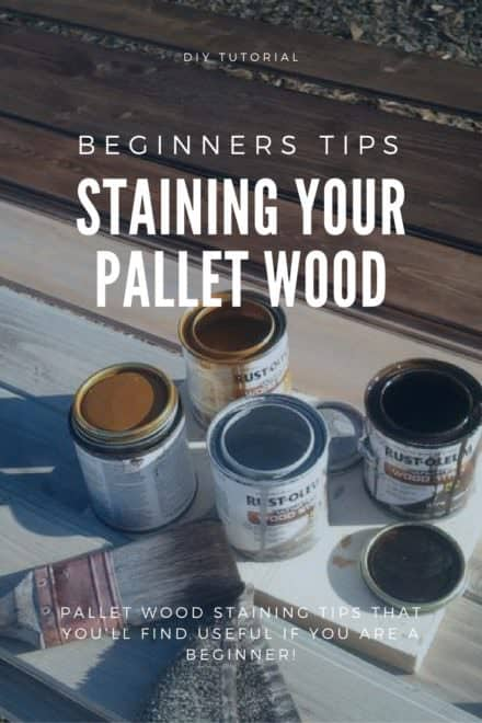 How To Stain Pallet Wood: Tips for Beginners