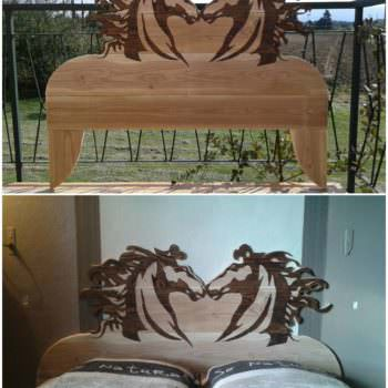 Tête De Lit Chevaleresque / Chivalrous Pallet Bed Headboard