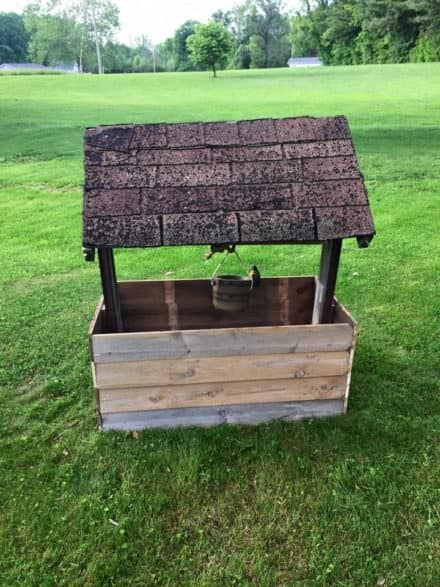 Wishing Well From Repurposed Pallet Wood