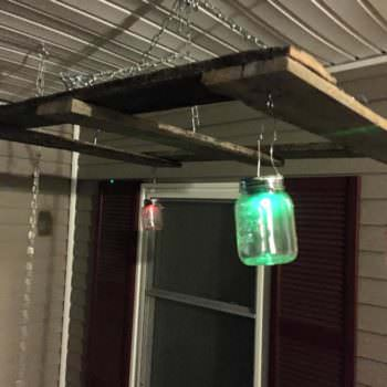 Porch Swing Hanger for Mason Jars and Pallets