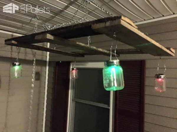 Porch Swing Hanger for Mason Jars and Pallets Pallet Lamps, Pallet Lights & Pallet Lighting