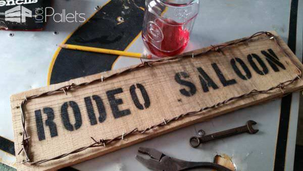 Pallet Western Saloon Sign Pallet Wall Decor & Pallet Painting