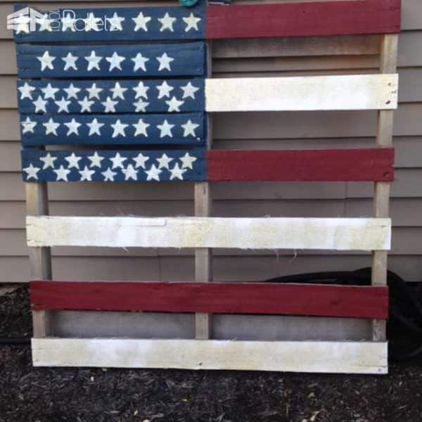 American Flag Pallet Pallet Home Accessories