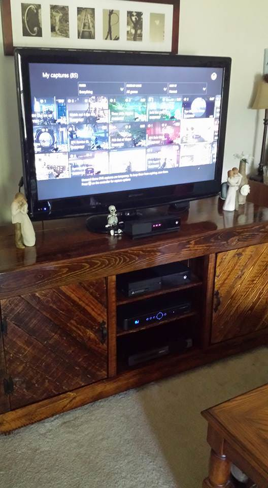 Entertainment Center Pallet TV Stand & Rack