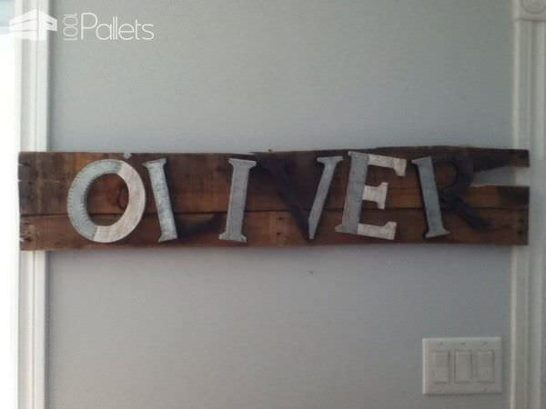 Pallet Name Sign Pallet Wall Decor & Pallet Painting