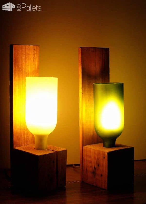 40 Stunning Lamps Made From Reclaimed Pallets Pallet Lamps & Lights