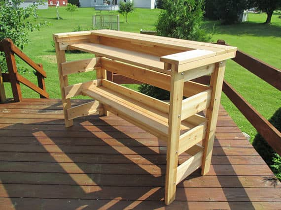 Wooden Pallet Bars don't have to be rustic! They can be refined and elegant like this open, airy bar is.