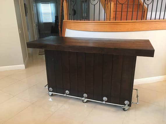 diy wood bar. Wooden Pallet Bars Like This Espresso Stained Bar Are Elegant And Can Be In  Mansions 45 Amazing Made From Wood For Your Inspiration