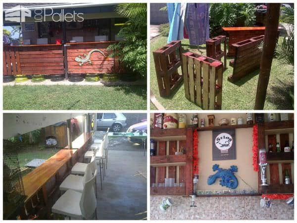 35 Awesome Wooden Pallet Bars11