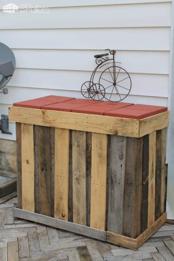 35 Awesome Wooden Pallet Bars17