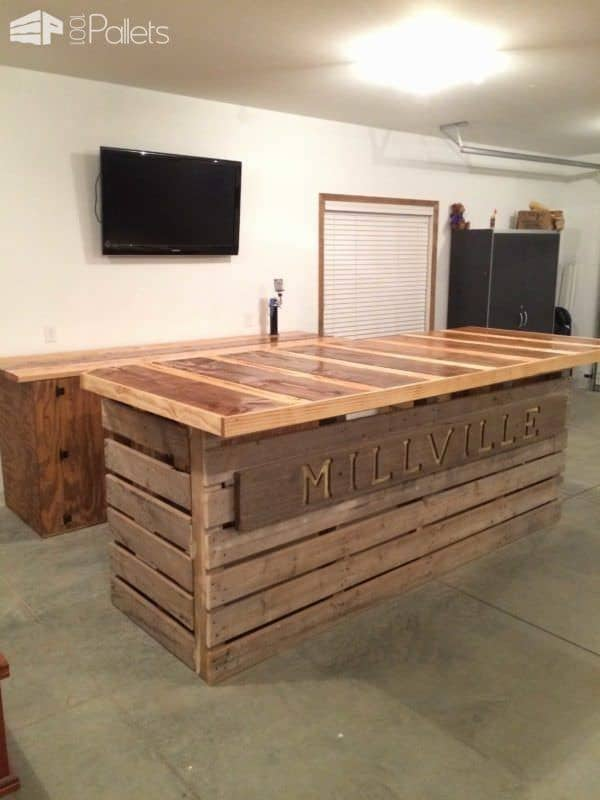 35 Awesome Wooden Pallet Bars23