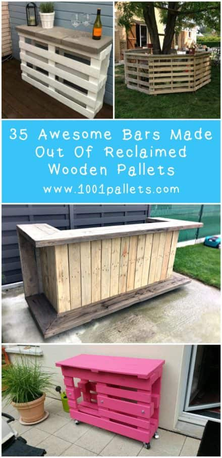 35 Awesome Wooden Pallet Bars For Inspiration!