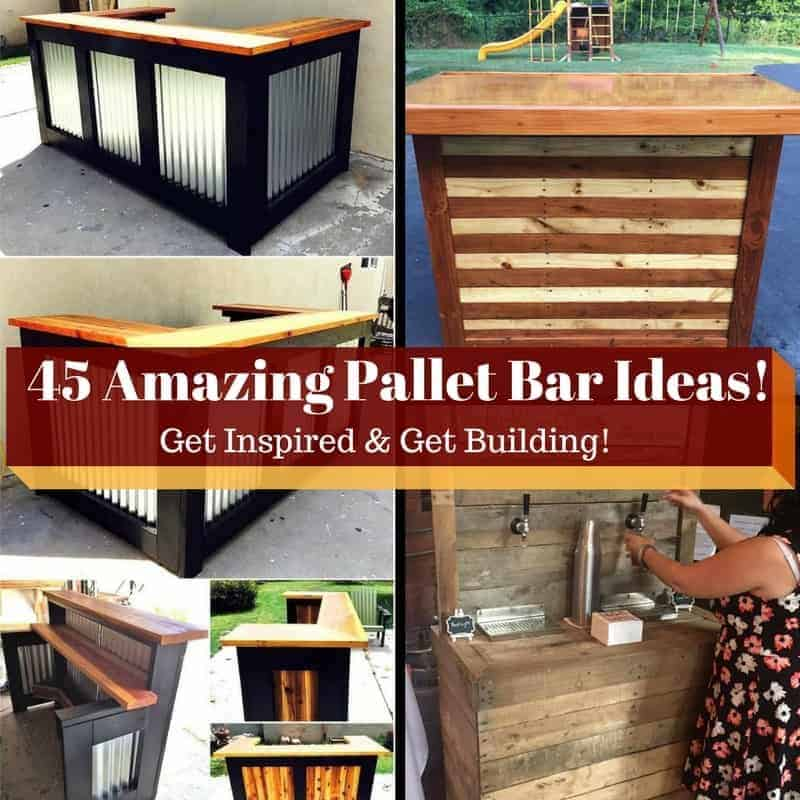 45 Amazing Bars Made From Pallet Wood For Your Inspiration!