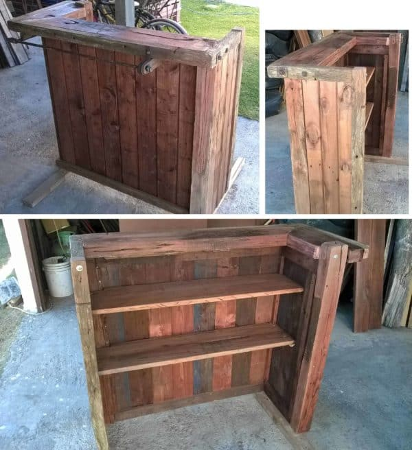 54 Awesome Wooden Pallet Bars For Your Inspiration! Pallet Bars