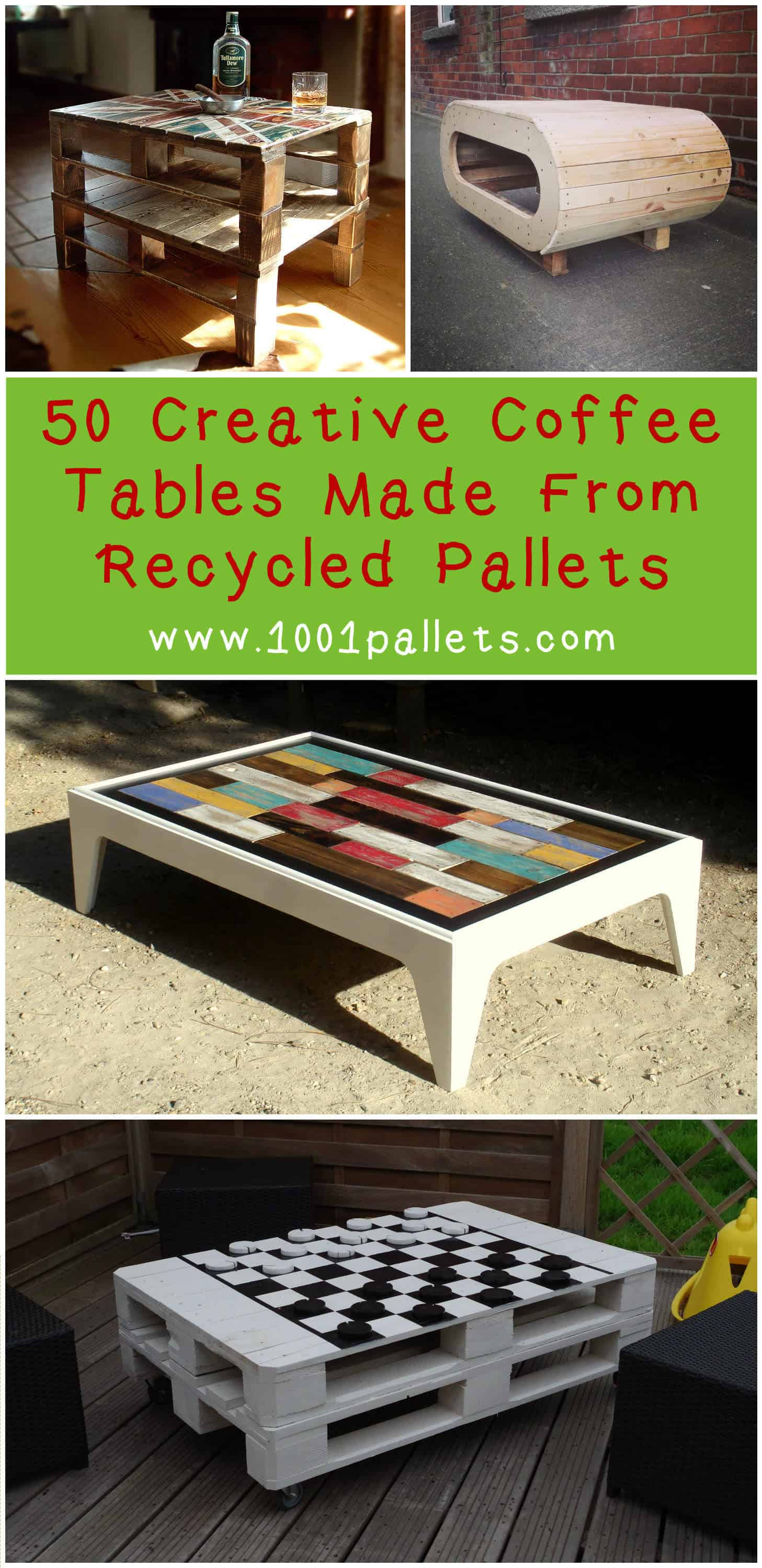 50 Creative Coffee Tables Made From Recycled Pallets For Your ...