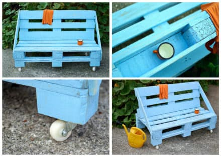 Aquamarine Pallet Bench