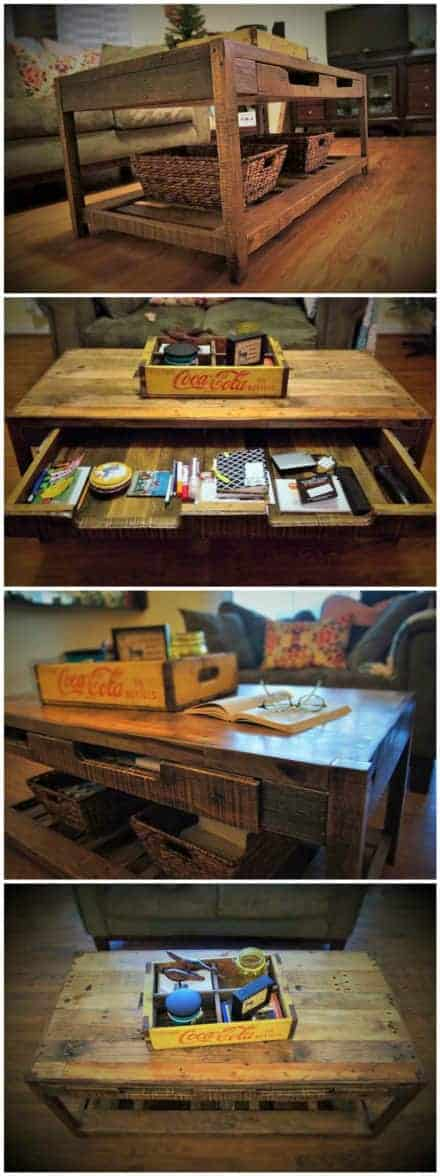 Beautiful Rustic Pallet Coffee Table