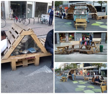 Boulevard in Brussels Reborn as a Pedestrian Zone With Ephemeral Pallet Furniture