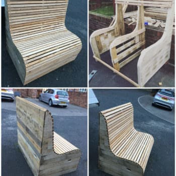 Commissioned Garden Pallet Bench
