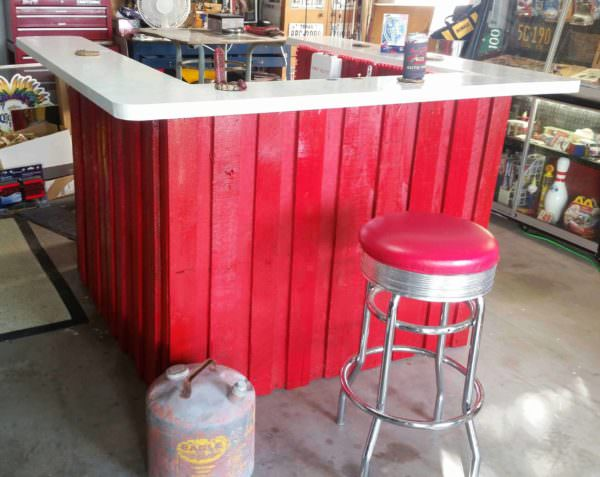 Firefighter/ Rescue Themed BBQ Bar DIY Pallet Bars