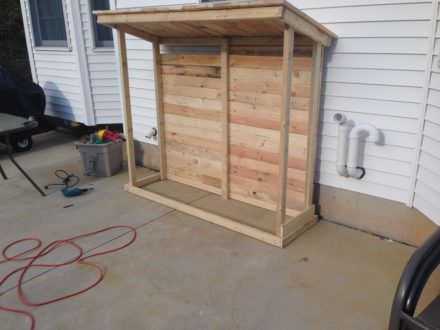Firewood Shed From Recycled Pallets