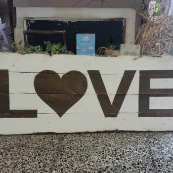 Love Sign From Discarded Pallet Wood